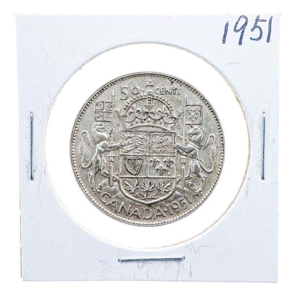1951 Canada Silver 50 Cents