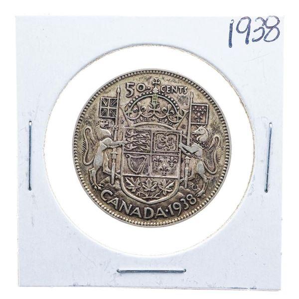 1938 Canada Silver 50 cents