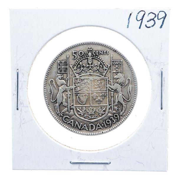 1939 Canada Silver 50 Cents
