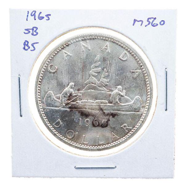 1965 Canada Silver Dollar SB/B5