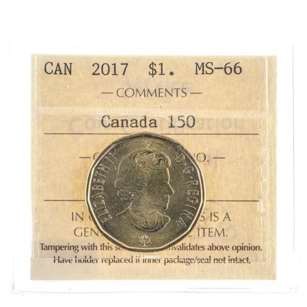 2017 Canada $1 MS66 Canada 150 -ICCS