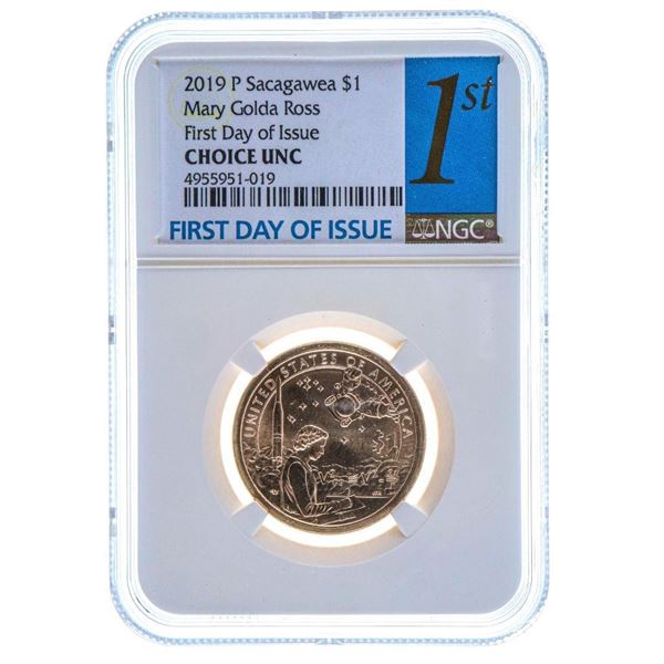 2019 P Sacagawea $1 Mary Golda Ross First Day Issue Choice UNC NGC