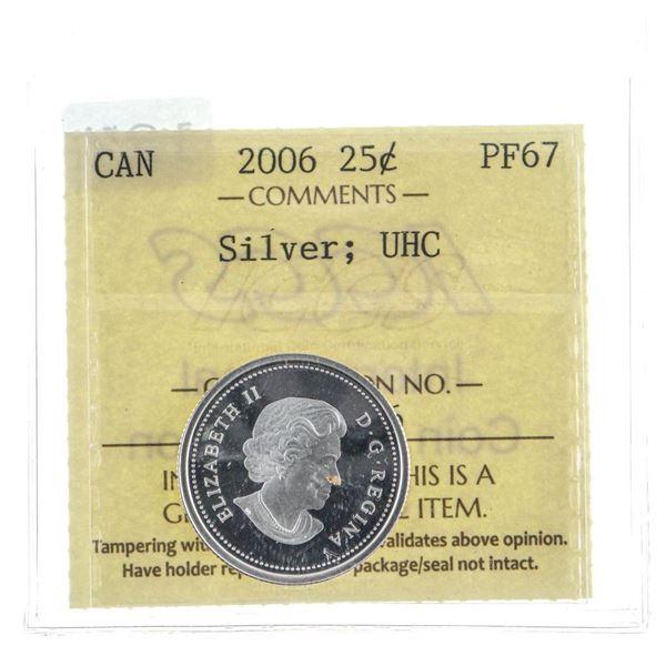 2005 Canada 5C Silver UHC PF67 ICCS