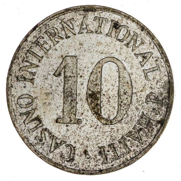 Casino international of Haiti 1949-60 10 Centimes  AU