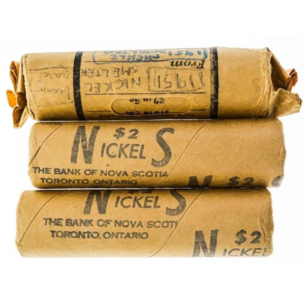 Lot 3 Rolls Canada 5 Cents - 2 x 1967 1 x 1952