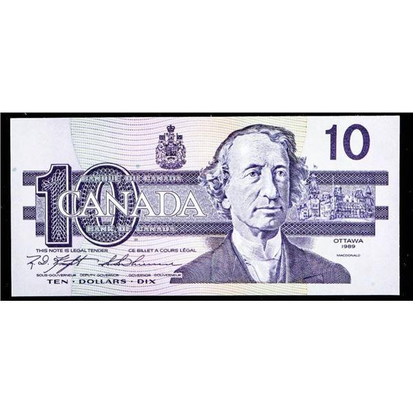 "OLMSTEAD Bank of Canada 1989 $10 ""BEH"" Circulation  Issue Gem UNC"