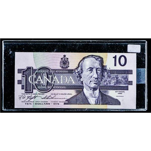"OLMSTEAD Bank of Canada 1989 $10 ""BEF"" GEM UNC"