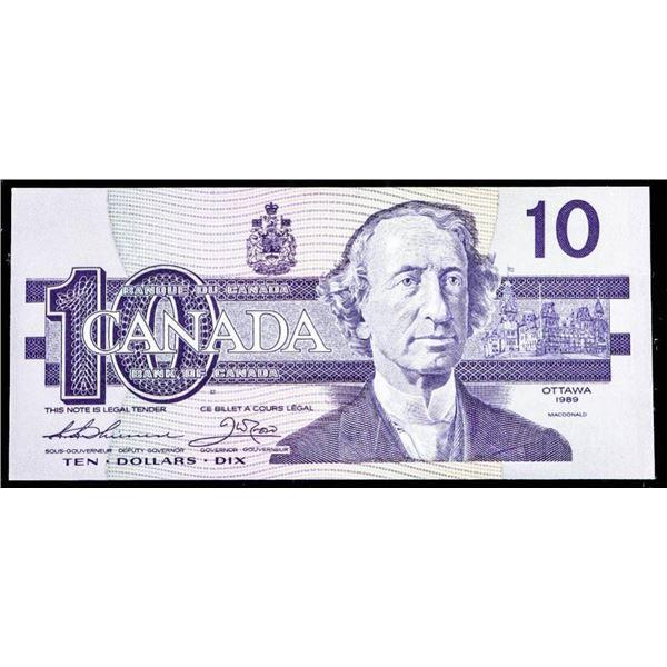 """OLMSTEAD Bank of Canada 1989 $10 """"ADB"""" GEM UNC"""