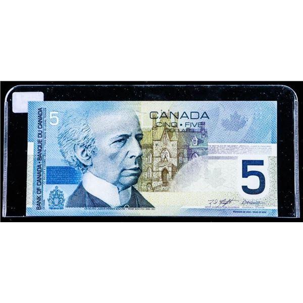 """OLMSTEAD Bank of Canada 2002 $5 """"HNE"""" Hockey GEM  UNC"""