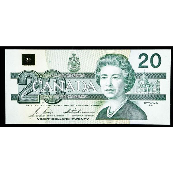 "OLMSTEAD Bank of Canada 1991 $20 ""AVP"" GEM UNC"