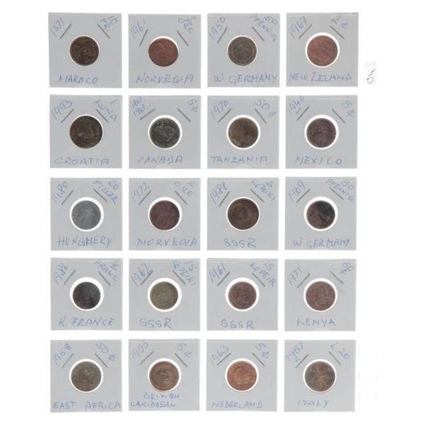 Estate Group of 20 World Coins