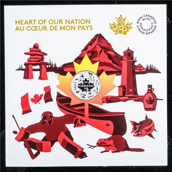 RCM Heart of Our nation 2017 $3 Fine Silver  Coin Folio
