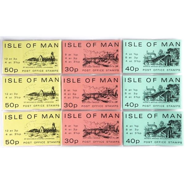 """Lot of """"ISLE of Man"""" Retail Stamp Booklets"""