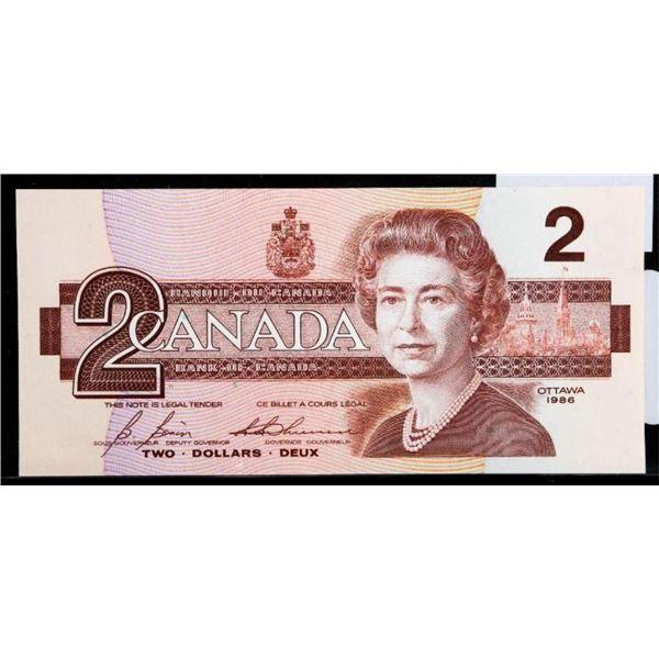 """OLMSTEAD Original Bank of Canada 1986 $2  """"EBX"""" Gem Unc"""