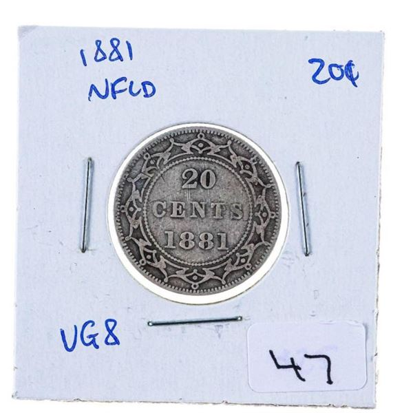 NFLD 1881 Silver 20 Cents