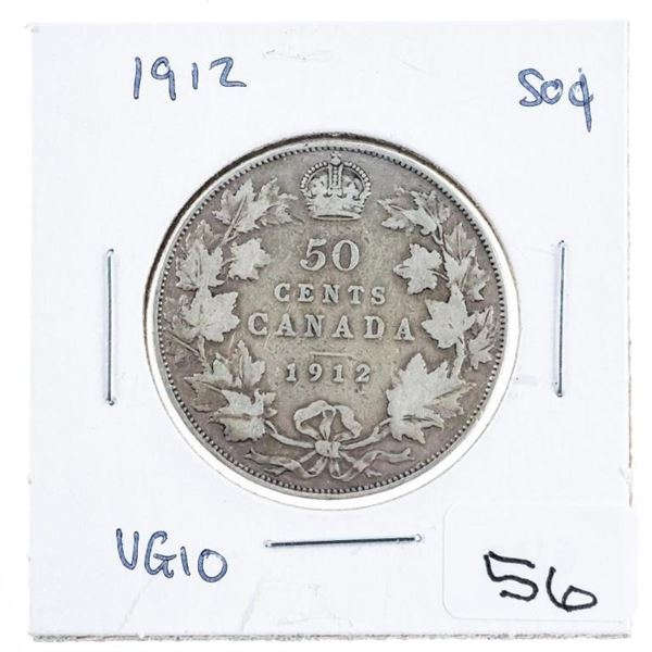 Canada 1912 Silver 50 cents