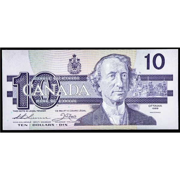 "OLMSTEAD Original Bank of Canada 1989  $10""ADX: (073) Gem UNC"