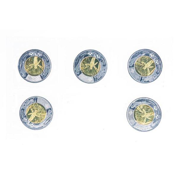 RCM 2014 Remember 5 Pack $2 Coins UNC