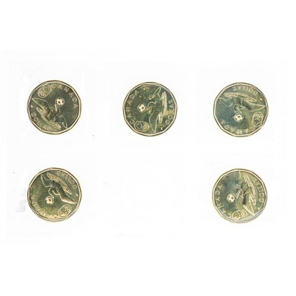 RCM 2014 Olympic Loon Dollar 5 Pack UNC