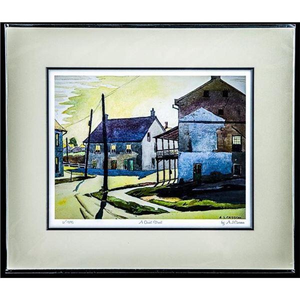"A.J. Casson 1898-1992 - Giclee - "" A Quiet  Street "" Rare #1 Strike 11 x 14"""