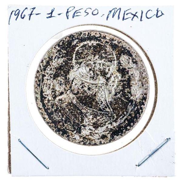 Mexico 1967 1 Peso Silver Coin