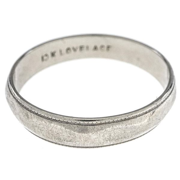 Estate 10kt White Gold Band Ring Size 9