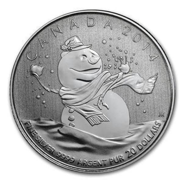 RCM 2014 ,9999Fine Silver $20 Snowman