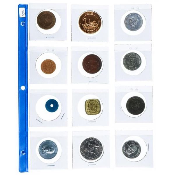 Group of 12 Vintage Tokens & Medals
