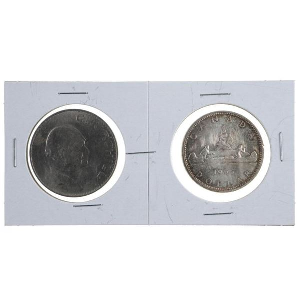 Lot 2 1965 Silver Dollar & Churchill Crown
