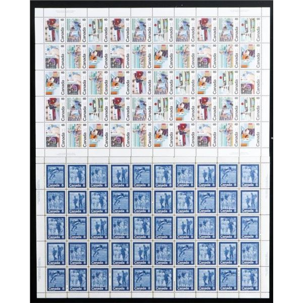Canada Lot UNCUT Sheets of Postage Stamps