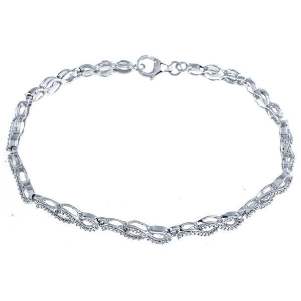 925 Sterling Silver Bracelet - infinity Design w/  Diamond - Apppr.$960