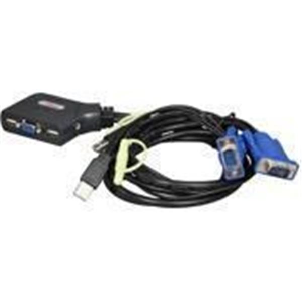 Rosewill RKV -17001 2-Port USB Cable KVM Switch  with Audio - Brand New