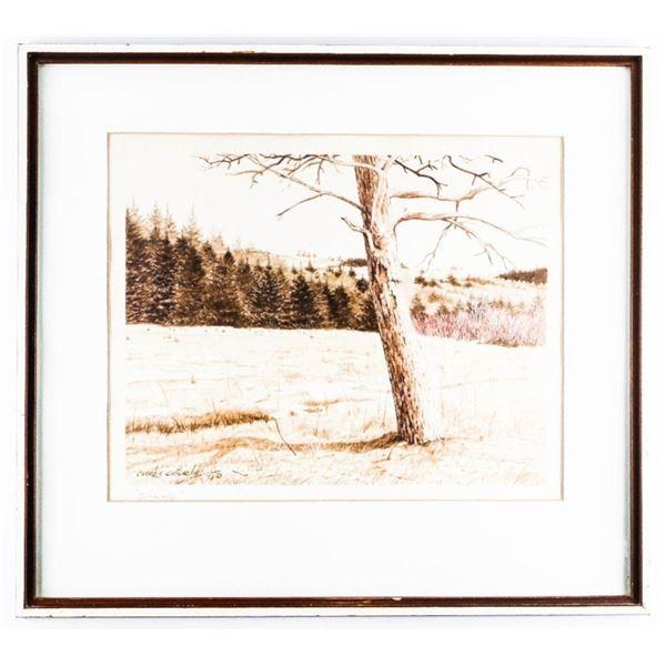 "Charles ChisholmC1974 Litho ""SPRING"" Gallery Frame  18 x 20"""