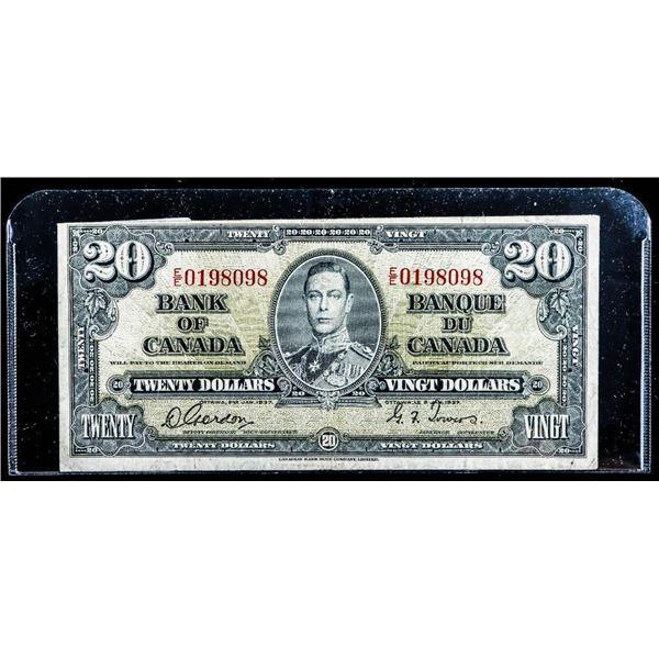 "Bank of Canada 1937 $20 ""EE"" (098)"