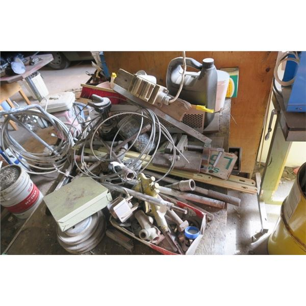 Lot of Misc. Items Including Grease, Cable, Electric