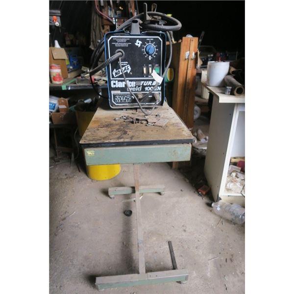 Clarke Turbo Weld 100EN Welder on Rolling Cart