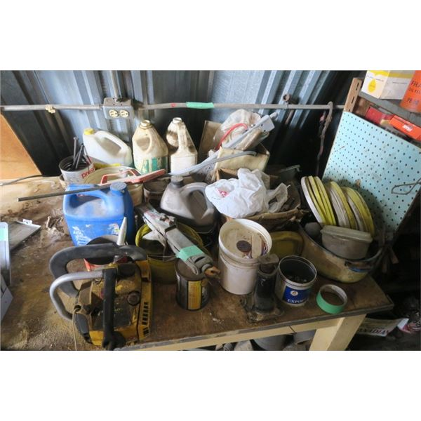 Lot of Misc. Items Including Toyota Jack and Small Chainsaw (Needs Repair)