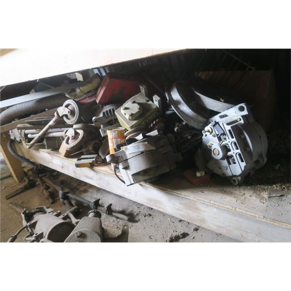 Lot of Misc. Items Including Electric Motors and Steering Column