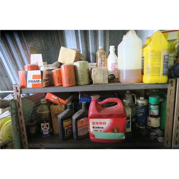 2 Shelves Contents of Automotive Fluids and Filters