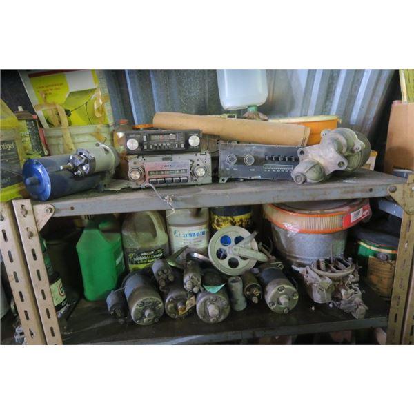 2 Shelves Contents of Automotive Parts and Fluids