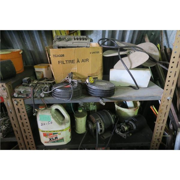 2 Shelves of Contents Including Automotive Parts and Misc. Items