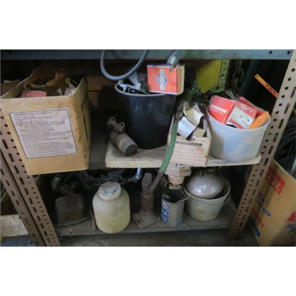 2 Shelves of Contents Including Jack, and other Misc. Items