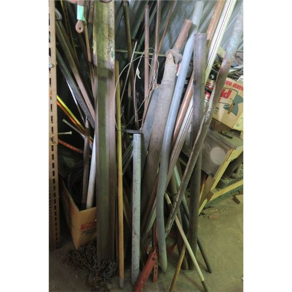 Lot of Misc. Steel, Pipes, and Drive Shaft