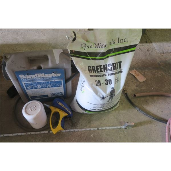 Sand Blasting Items, Blaster, Gun, and Substrate