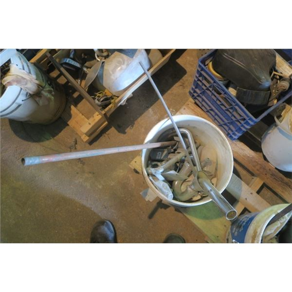 Pail of Plumbing Parts