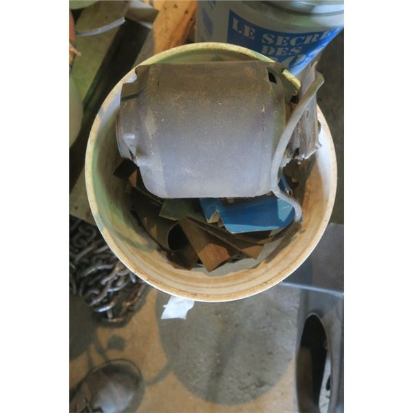 Pail with Electric Motor and other Misc. Items