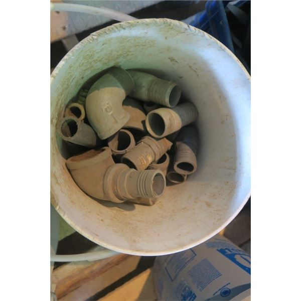 Pail of Misc. Plumbing Fittings
