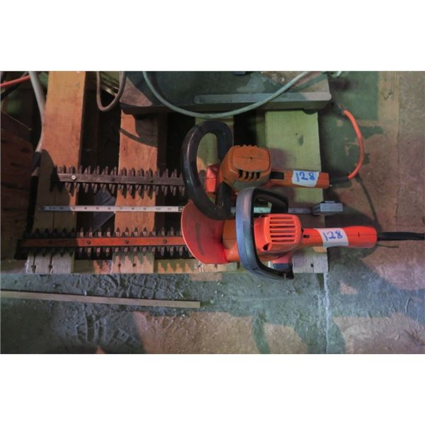 Pair of Electric Hedge Trimmers