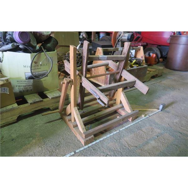 Wooden Hose Reel