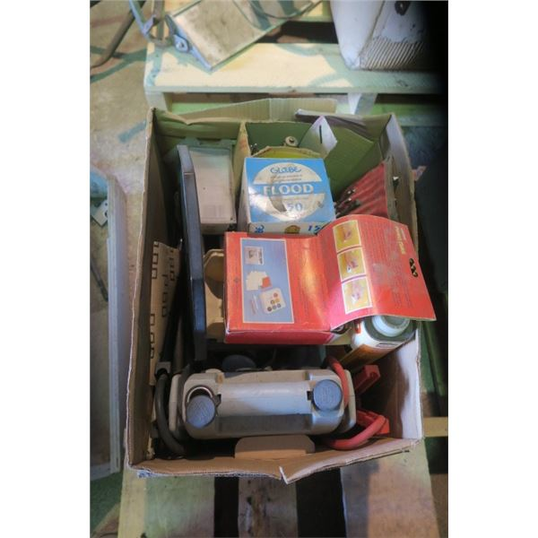 Box of Misc. Items Including Booster Pack, Drill Bits and More